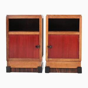 Art Deco Haagse School Night Stands, 1920s, Set of 2