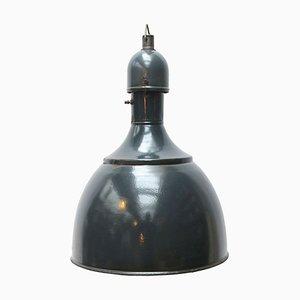 Lampada vintage industriale blu smaltata