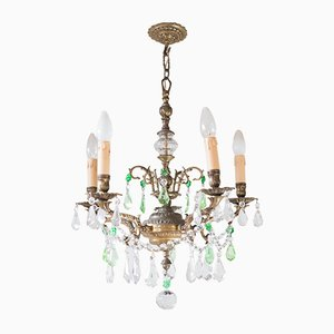 Antique Spanish Bronze Chandelier
