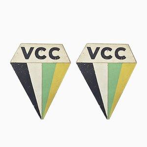 Carteles de bicicleta VCC vintage. Juego de 2