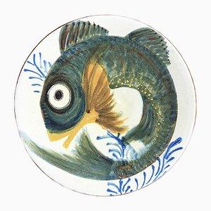 Teller mit Fisch-Motiv von Puigdemont, 1960er