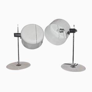 Lampes de Bureau Modèle 2202 par Joe Colombo pour Oluce, 1960s, Set de 2