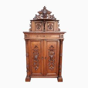 French Renaissance Style Oak Cabinet, 1880s