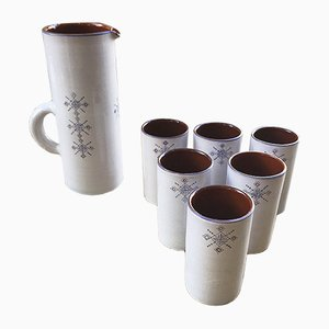 Keramikkaraffen von Salé, 1960er, 7er Set