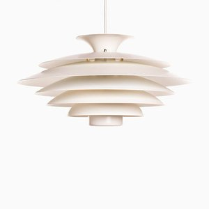 Vintage Danish White Pendant Lamp from Form Light