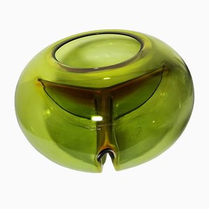 Green Vase from Mazzega, 1970s