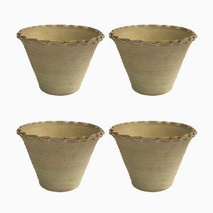 Cache-Pot en Terracotta Fait à la Main par Golnaz, Set de 4