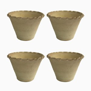 Handmade Terracotta Planters by Golnaz, Set of 4