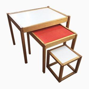 Tavolini ad incastro di Sornay, set di 3