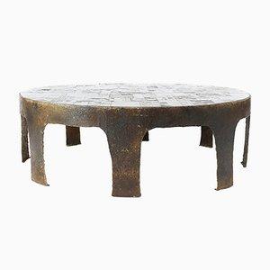 Table Basse Brutaliste en Ardoise par Pia Manu, 1960s