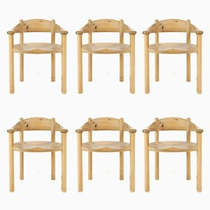 Scandinavian Pine Dining Room Chairs by Rainer Daumiller for Hirtshals Savaerk, Set of 6
