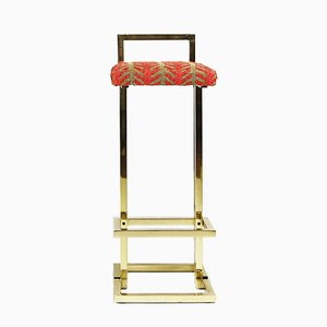 Brass Bar Stools from Maison Jansen, 1970s, Set of 2
