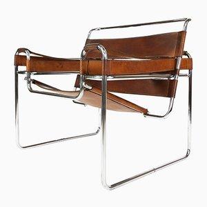 Hellbrauner Wassily Sessel aus Leder, 1960er