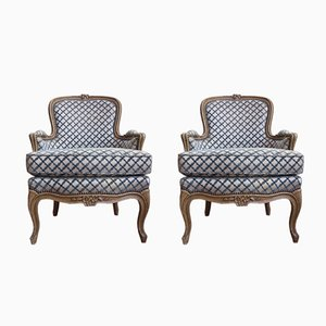 Louis XV Style Armchairs, 1950s, Set of 2