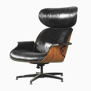 Plywood Swivel Lounge Chair by George Mulhauser for Plycraft, 1959