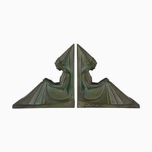 Art Deco Bookends by Max Le Verrier, 1930s