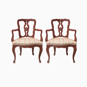 Antique Style Italian Armchairs, 1950s, Set of 2