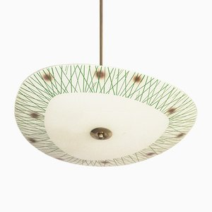 Mid-Century Frosted Glass Ceiling Lamp, 1970s