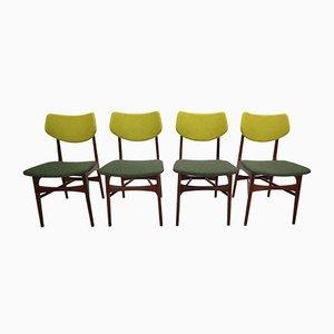 Chaises de Salle à Manger Hamar en Teck par Louis van Teeffelen pour WéBé, 1960s, Set de 4