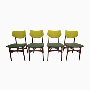Hamar Teak Dining Chairs by Louis van Teeffelen for WéBé, 1960s, Set of 4