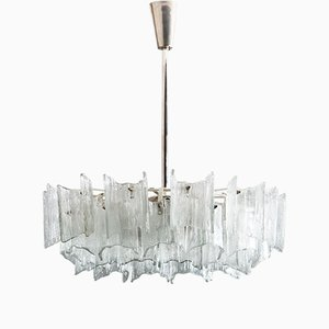 Frosted Glass Chandelier by J. T. Kalmar for Kalmar, 1960s