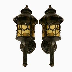 Lámparas de jardín vintage. Juego de 2