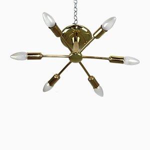 Lámpara de araña Sun de Rupert Nikoll, años 50