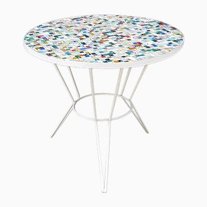 Vintage Gartentisch mit Gresite-Mosaikplatte, 1960er