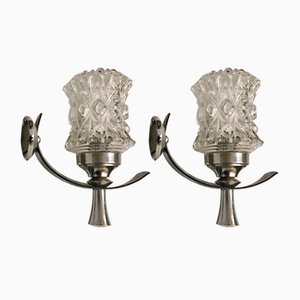 Mid-Century Crystal Sconces by Be Bro, Set of 2