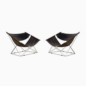 F675 Butterfly Chairs by Pierre Paulin for Artifort, 1960s, Set of 2