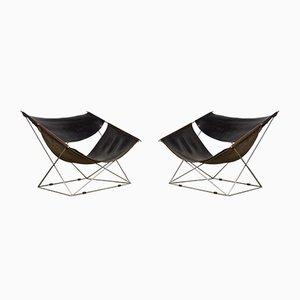 F675 Butterfly Sessel von Pierre Paulin für Artifort, 1960er, 2er Set