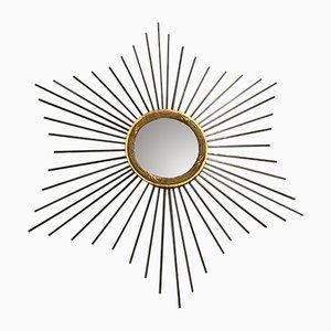 Specchio a forma di sole vintage, Francia, anni '60