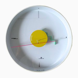 Postmodern Artec Wall Clock by Nicolai Canetti for Lorenz, 1984