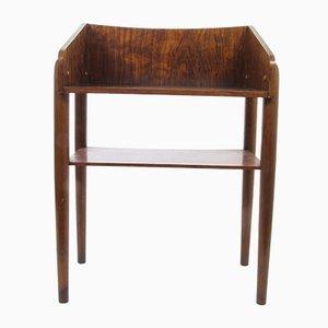 Mesa auxiliar danesa vintage de palisandro, años 60