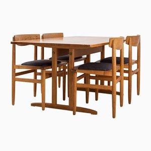 Set aus Esszimmerstühlen & Tisch aus Eiche im Shaker-Stil von Börje Mogensen für Karl Andersson & Söner, 1950er
