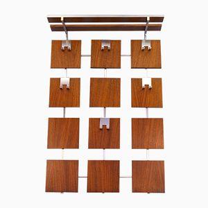 Modernist Dutch Rosewood & Chrome Coat Rack, 1970s