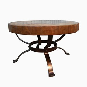 Table Basse Tronc d'Arbre Vintage
