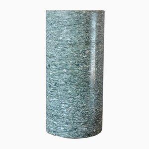 Jarrón minimalista de granito gris, años 80