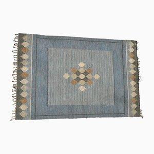 Flachgewebter schwedischer Teppich von Ingegerd Silow, 1950er