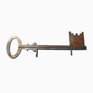 Antikes französisches Schlüsseldienst Schild