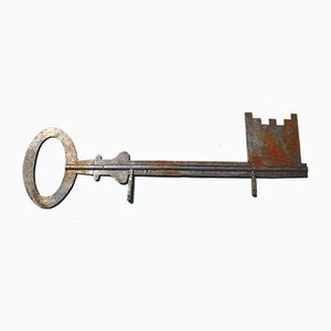 Antique French Locksmiths Trade Key Sign