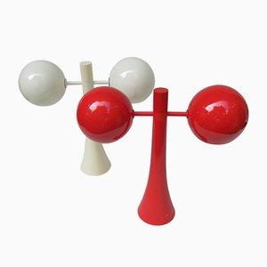 Lámparas de mesa era espacial de Temde, años 70. Juego de 2