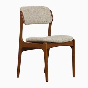 Modell 49 Esszimmerstühle aus Teak mit Wollbezug von Erik Buch für O.D. Møbler, 1960er, 6er Set