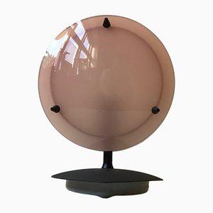 Lámpara de mesa italiana Mid-Century de metacrilato rosa y blanco, años 60