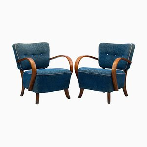 Art Deco H 237 Armchairs by Jindrich Halabala for UP Závody, 1930s, Set of 2
