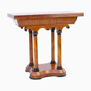 Austrian Biedermeier Cherrywood Console Game Table, 1850s
