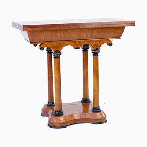 Consola austriaca Biedermeier de madera de cerezo, década de 1850