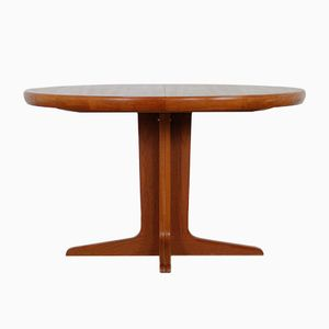Round Danish Teak Extendable Dining Table from VV Mobler, 1950s