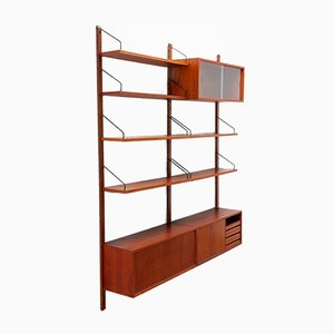 Mid-Century Teak Royal Hanging Wall Unit by Poul Cadovius
