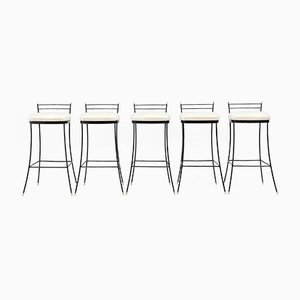 Italian Bar Stools, 1980s, Set of 5